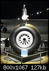 Single-wheel main gear design at the National Museum of the United States Air Force.jpg